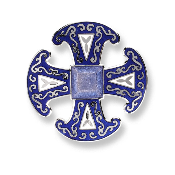 Canterbury Cathedral Enamel Brooch