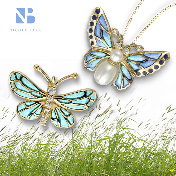 Butterfly jewelry from Nicole Barr