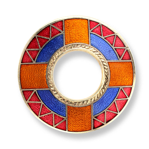 Ripon Cathedral Enamel Brooch