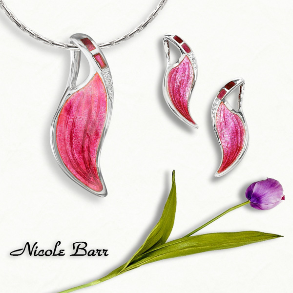 Pink Silver Jewelry by Nicole Barr