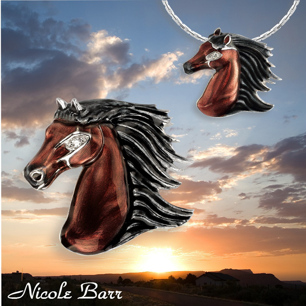 Silver horse jewelry by Nicole Barr