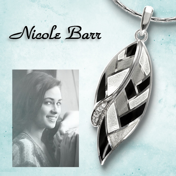 Black and White Harlequin jewelry by Nicole Barr