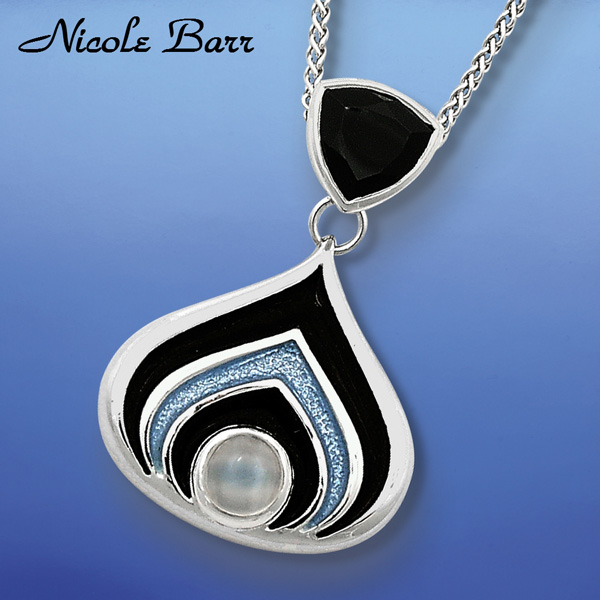 Nicole Barr Silver Moonstone Jewelry